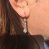 1.18ctw Vintage Old European Cut Diamond Buttercup Drop Earrings 7