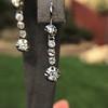 1.18ctw Vintage Old European Cut Diamond Buttercup Drop Earrings 11