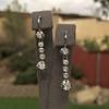 1.18ctw Vintage Old European Cut Diamond Buttercup Drop Earrings