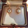 1.19ctw French Old European Cut Diamond Ear Pendant 2