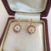 1.19ctw French Old European Cut Diamond Ear Pendant 17