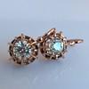 1.19ctw French Old European Cut Diamond Ear Pendant 25