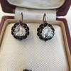 1.20ctw Victorian Rose Cut Diamond Drop Earrings 23
