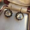 1.20ctw Victorian Rose Cut Diamond Drop Earrings 25