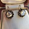 1.20ctw Victorian Rose Cut Diamond Drop Earrings 18