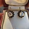 1.20ctw Victorian Rose Cut Diamond Drop Earrings 20