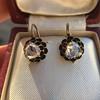 1.20ctw Victorian Rose Cut Diamond Drop Earrings 21