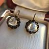 1.20ctw Victorian Rose Cut Diamond Drop Earrings 26