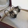 1.20ctw Victorian Rose Cut Diamond Drop Earrings 12