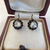 1.20ctw Victorian Rose Cut Diamond Drop Earrings 14