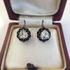 1.20ctw Victorian Rose Cut Diamond Drop Earrings 3