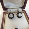 1.20ctw Victorian Rose Cut Diamond Drop Earrings 15