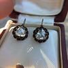 1.20ctw Victorian Rose Cut Diamond Drop Earrings 31