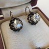 1.20ctw Victorian Rose Cut Diamond Drop Earrings 4