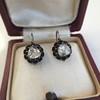 1.20ctw Victorian Rose Cut Diamond Drop Earrings 17