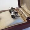 1.20ctw Victorian Rose Cut Diamond Drop Earrings 6