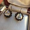 1.20ctw Victorian Rose Cut Diamond Drop Earrings 24