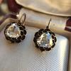 1.20ctw Victorian Rose Cut Diamond Drop Earrings 22