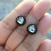 1.20ctw Victorian Rose Cut Diamond Drop Earrings 7