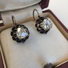 1.20ctw Victorian Rose Cut Diamond Drop Earrings 2