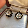 1.20ctw Victorian Rose Cut Diamond Drop Earrings 29