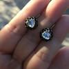 1.20ctw Victorian Rose Cut Diamond Drop Earrings 30