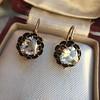 1.20ctw Victorian Rose Cut Diamond Drop Earrings 28