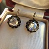 1.20ctw Victorian Rose Cut Diamond Drop Earrings 27