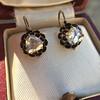 1.20ctw Victorian Rose Cut Diamond Drop Earrings 19