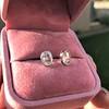1.24ctw Platinum Rose Cut Bezel Earrings 16