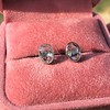 1.24ctw Platinum Rose Cut Bezel Earrings 6