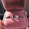 1.24ctw Platinum Rose Cut Bezel Earrings 13