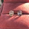 1.24ctw Platinum Rose Cut Bezel Earrings 12