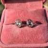 1.24ctw Platinum Rose Cut Bezel Earrings 2