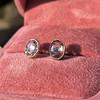 1.24ctw Platinum Rose Cut Bezel Earrings 7