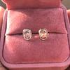 1.24ctw Platinum Rose Cut Bezel Earrings 18