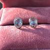 1.24ctw Platinum Rose Cut Bezel Earrings 11
