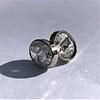 1.24ctw Platinum Rose Cut Bezel Earrings 0