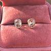 1.24ctw Platinum Rose Cut Bezel Earrings 19