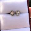 1.24ctw Platinum Rose Cut Bezel Earrings 3