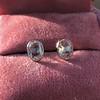 1.24ctw Platinum Rose Cut Bezel Earrings 9