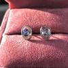1.24ctw Platinum Rose Cut Bezel Earrings 8