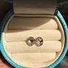 1.24ctw Platinum Rose Cut Bezel Earrings 1