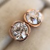 1.35ctw OEC Diamond Clover Earrings, Rose Gold 4