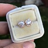 1.35ctw OEC Diamond Clover Earrings, Rose Gold 5