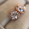 1.35ctw OEC Diamond Clover Earrings, Rose Gold 0