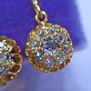 1.45ctw Victorian Cluster Old Mine Cut Dangle Earrings 9
