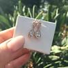 1.51ctw Diamond Mosaic OEC Dangle Earrings 23