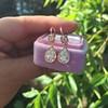 1.51ctw Diamond Mosaic OEC Dangle Earrings 3