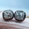 1.52ctw Antique Cushion Cut Collet Earrings 14